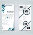 modern roll-up banner design template vector image vector image