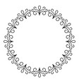 outline decorative circle frame design monochrome vector image vector image