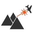 Piramides Strike Airplane Icon vector image vector image