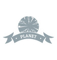 planet astronomy logo simple gray style vector image vector image