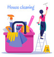 poster house cleaning vector image vector image