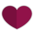 purple heart icon vector image vector image
