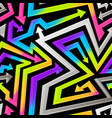 rainbow geometric arrows seamless pattern vector image vector image