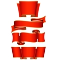 Red ribbon set vector image vector image