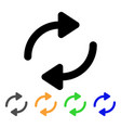 refresh stroke icon vector image vector image