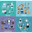 Robots Concept Icons Set vector image vector image