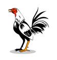 Rooster Cockerel Cock Retro vector image vector image