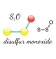 S2O disulfur monoxide molecule vector image vector image