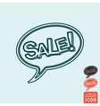 Sale icon isolated vector image vector image