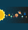scheme solar system planets in style vector image