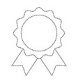 seal with ribbon emblem vector image vector image