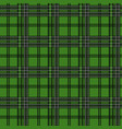 seamless tartan plaid pattern in christmas color vector image