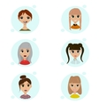set female avatar icons people vector image