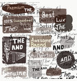 set of grunge labels on a hand writhing vector image vector image