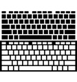 silhouette computer keyboard isolated black and vector image vector image
