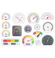 speedometer icon set isolated on white background vector image