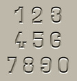 stone carved font numbers vector image vector image