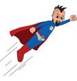 Superhero flying vector image vector image