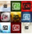 support service icon on blurred background vector image vector image