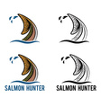 tail salmon vector image vector image