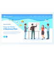 teamwork how to write business plan worker vector image vector image