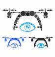 video spy drone composition icon circles vector image vector image