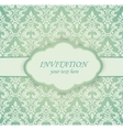 Vintage card with damask pattern vector image