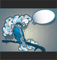 vintage hand drawn bird vector image