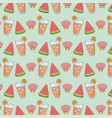 watermelon with juice fruit and shell pattern vector image