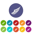 Wing set icons vector image vector image