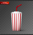 a soda fountain drink vector image vector image