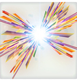 Abstract futuristic background with light burst vector image