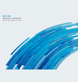 abstract futuristic technology blue strip line vector image