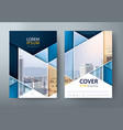 annual report brochure flyer book cover templates vector image