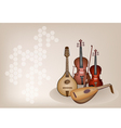 Antique Musical Instrument Strings vector image vector image