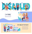 banners for disability day with positive invalid vector image vector image
