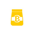 bitcoin goods pack icon product of cryptocurrency vector image vector image