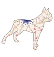 Boxer dog vintage vector image vector image