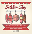 butcher shop poster vector image