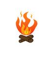 campfire icon vector image vector image