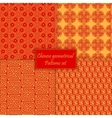 Chinese asian geometrical seamless pattern vector image vector image