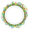 Christmas background round frame from colourful vector image vector image