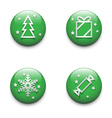 Christmas icons set vector image vector image