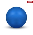 Classic blue Fitball vector image