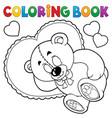 coloring book teddy bear theme 2 vector image vector image