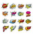 comic book sound blast bubbles cartoon icons vector image