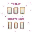 electronic devices set gradient color icon vector image