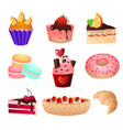 favorite delicacy of any girl and child on the day vector image vector image
