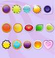 Fifteen colorful button vector image