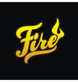 Fire hand written lettering calligraphy vector image vector image